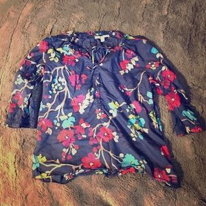 ❤️🌸Floral old navy 3/4 sleeve blouse🌸❤️